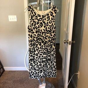 Loft Sleeveless Dress with Side Ruching